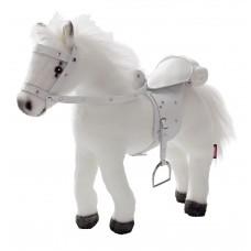 Wit paard met geluid voor je pop, Goetz