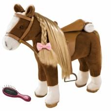 Groot paard met stylinghaar bruin, Goetz