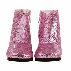 Roze glitterlaarzen pop XS, Goetz