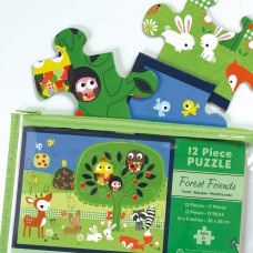 Pouch puzzel Forest Friends-12 stukken, Mudpuppy