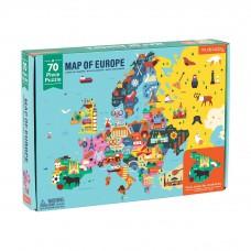 Europa puzzel 70 stukken, Mudpuppy