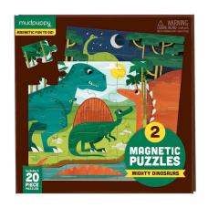 2 Magneetpuzzels Dinosaurus, Mudpuppy