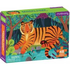 Mini puzzel Bengaalse tijger 48 st, Mudpuppy