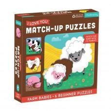 Match-up beginnerpuzzels boerderijdieren, Mudpuppy