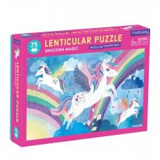 Lenticulair puzzel Unicorn Magic 75 st, Mudpuppy