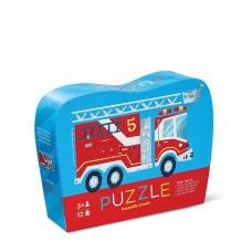 Puzzel brandweerwagen 12 st., Crocodile Creek