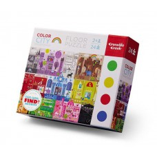 Vloerpuzzel Color City 24 stukken, Crocodile Creek