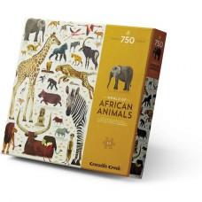 Puzzel World of African Animals 750 st, Crocodile Creek