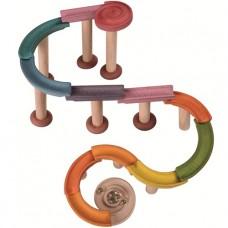 Houten knikkerbaan Deluxe, Plan Toys