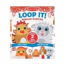 Loop It! DIY handpoppen boerderij, Melissa & Doug