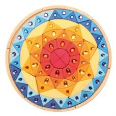 Gigantische puzzel glittermandala zon, Grimm's