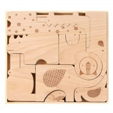 Houten Puzzle & Play Safari Jumble, Petit Collage