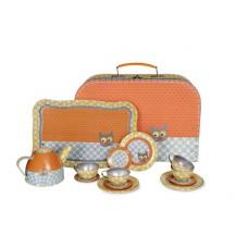 Blikken serviesje Kat in koffer, Egmont Toys