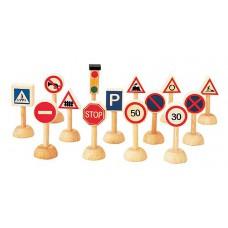 Verkeersborden 14-delig, Plan Toys