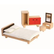 Slaapkamer poppenhuis, Plan Toys
