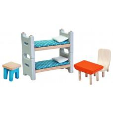 Kinderkamer poppenhuis, Plan Toys