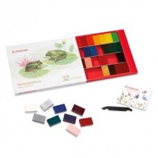 Bijenwasblokjes 32 kleuren, Stockmar