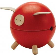 Spaarvarken rood, Plan Toys