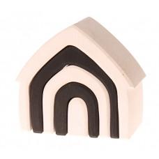 Stapelelementen huis monochrome, Grimm's