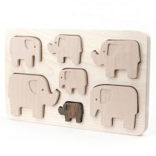 Houten puzzel olifanten, Bajo