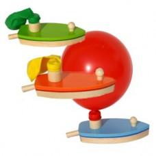 Houten ballonbootje