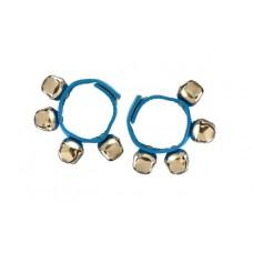 2 Bellenarmbanden met klittenband, blauw