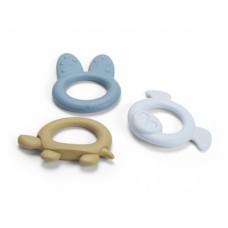BIOplastic bijtringen blauw, set van 3