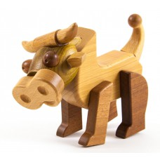 Cow & Friends houten magneetset