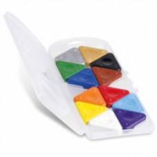 Driehoek waskrijt 12 kleuren, Primo