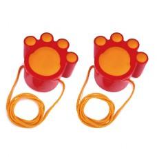 Rode loopklossen kattenpoten, Hape