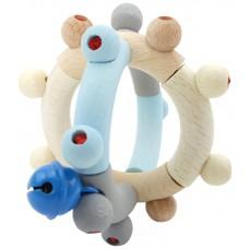 Flexibele rammelaar bol blauw, Hess