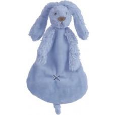 Knuffeldoekje konijn Richie deep blue, Happy Horse