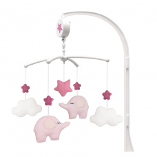 Muziekmobiel olifant roze, JaBaDaBaDo