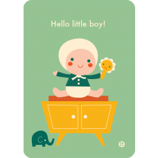 Ansichtkaart Hello little boy!, Bora
