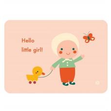 Ansichtkaart Hello little girl! Bora