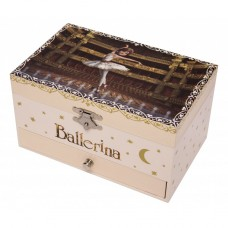 Muziekdoos met lade Ballerina