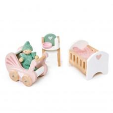 Babykamer poppenhuis, Tender Leaf Toys