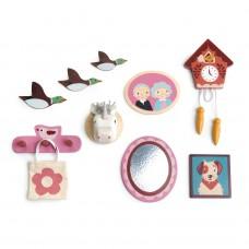 Muurdecoratie poppenhuis, Tender Leaf Toys
