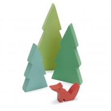 Houten dennenbomen en vos, Tender Leaf Toys