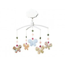 Muziekmobiel met vlinders bloemmotief