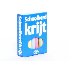 Schoolbordkrijt gekleurd
