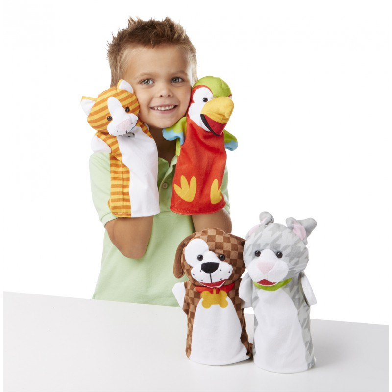 Handpoppen Playful Pets, Melissa & Doug