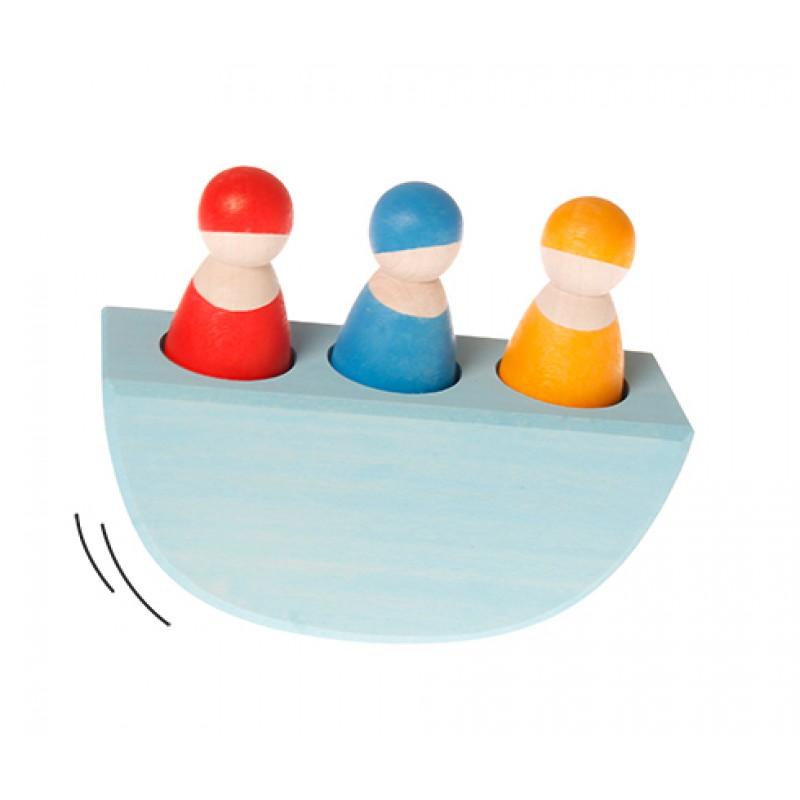 3 Bonte vriendjes in een bootje, Grimm's