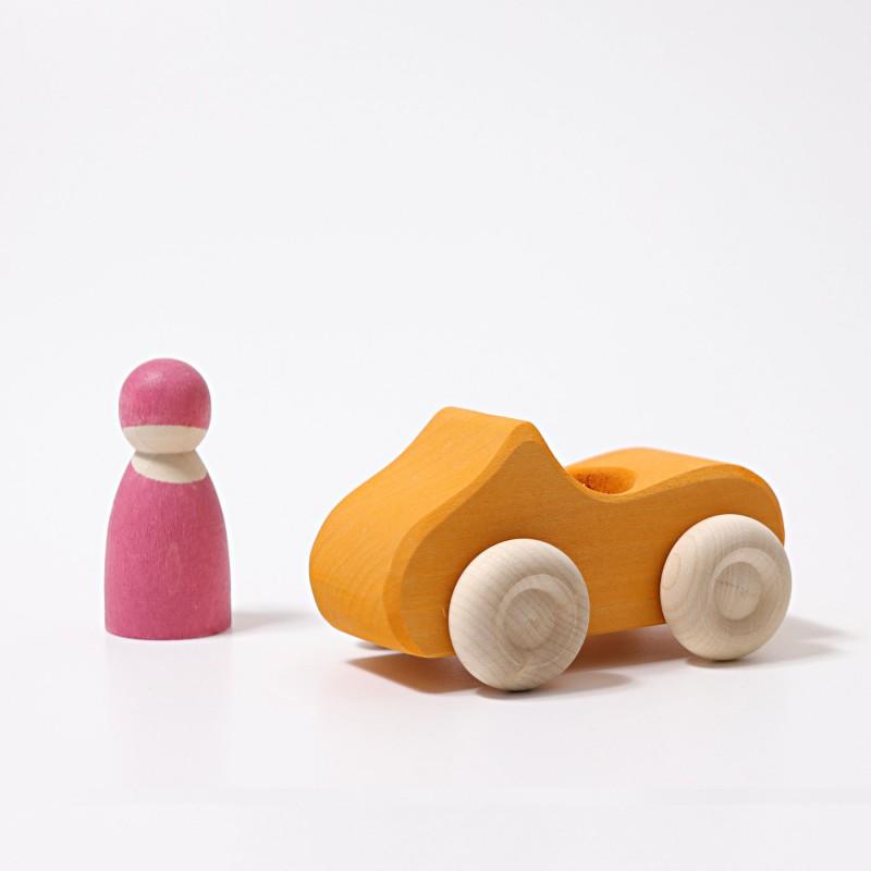 Kleine cabrio oranje, Grimm's