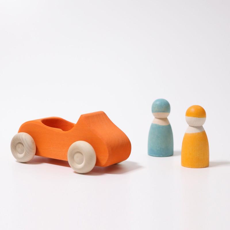 Grote cabrio oranje, Grimm's