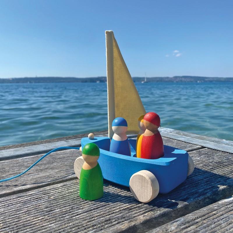 Zeilboot met 4 zeilers, Grimm's