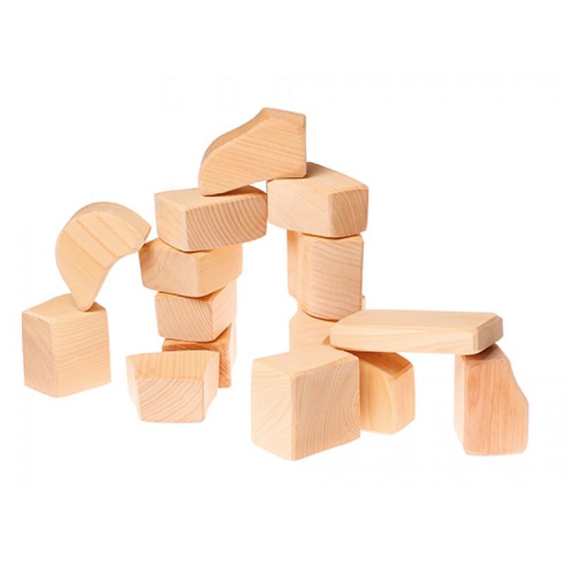 Naturel houten blokken, Grimm's