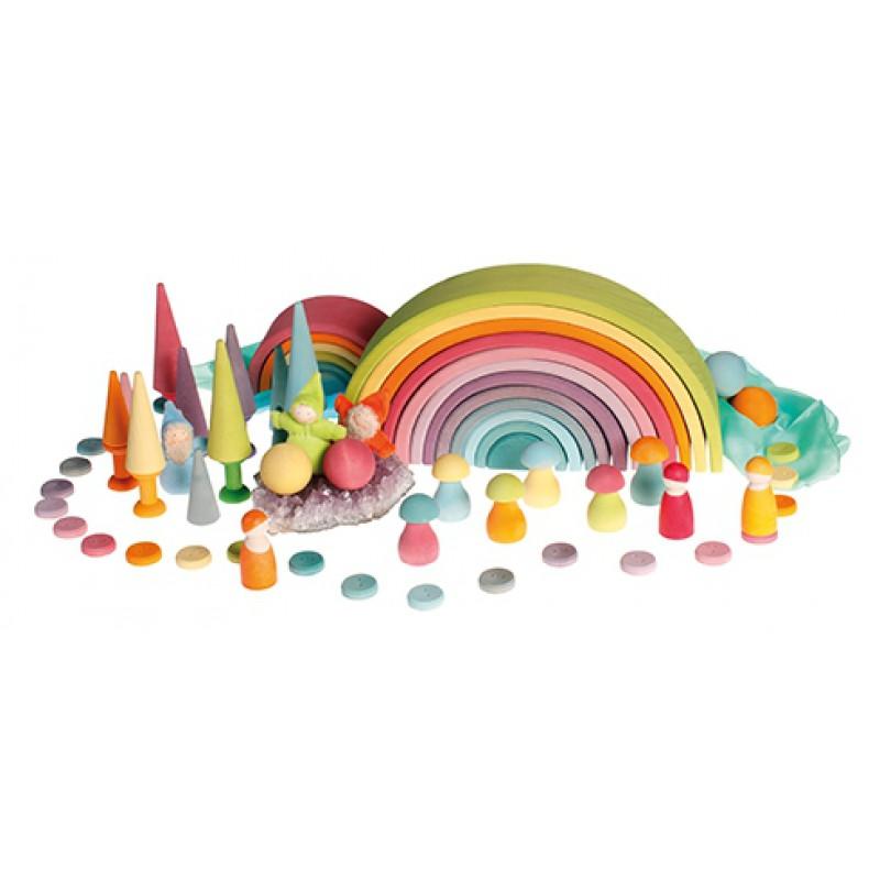 Regenboogbos pastel, Grimm's