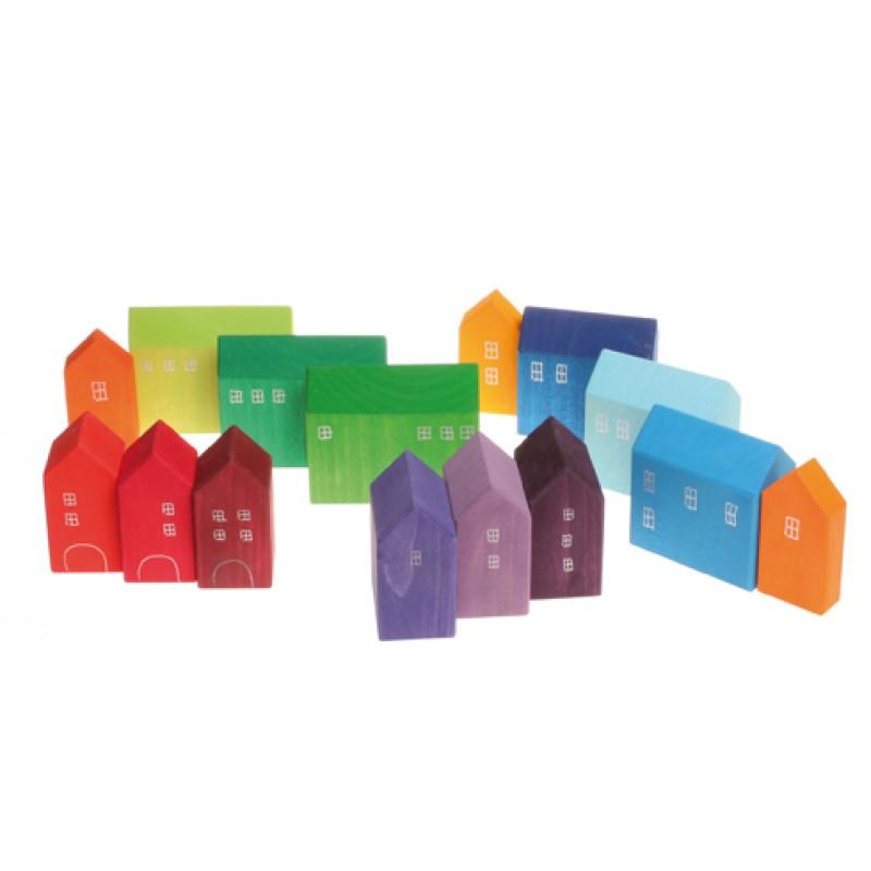 Handbeschilderde huisjes klein, Grimm's