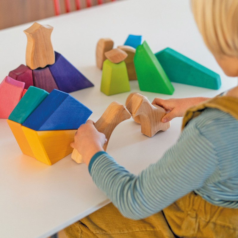 Gigantische blokkenpuzzel regenboogleeuw, Grimm's
